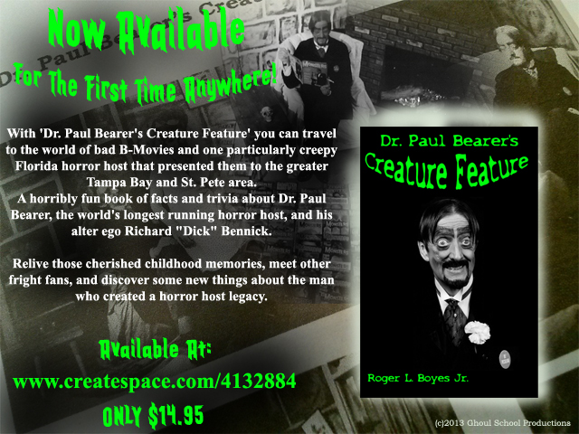 Dr. Paul Bearer's Creature Feature Book Now Available