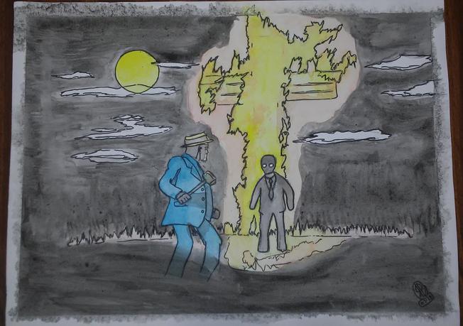 "Kolchak 12"" x 16"" watercolor on canvas pad"